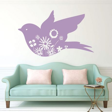 Spring Decorations for the Home - Dove Vinyl Wall Decal