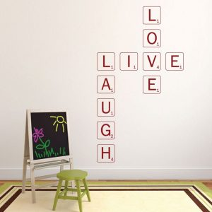 Live Laugh Love Wall Decal, Scrabble Wall Art