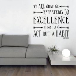 Aristotle Quote - We Are What We Repeatedly Do Excellence is Not an Act But a Habit