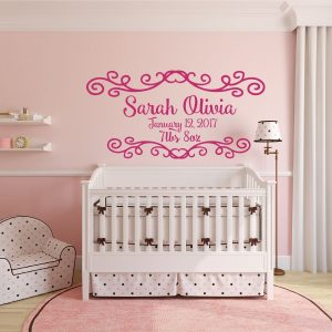 Personalized Baby - Baby Birth Record Vinyl Wall Art
