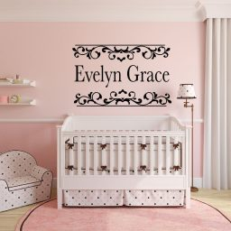Personalized Name Art - Girls Room Wall Decals - Vinyl Wall Stickers for Teen Girl Room Decor