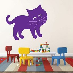 CustomVinylDecor Cat Wall Decals - Kids Playroom Vinyl Wall Decor, Nursery Art