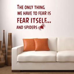 Halloween Decoration Spider - The Only Thing We Have To Fear is Fear Itself...And Spiders - Fear Quotes