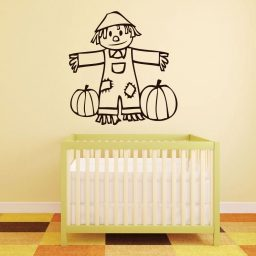 Halloween Decorations - Cute Scarecrow With Pumpkins