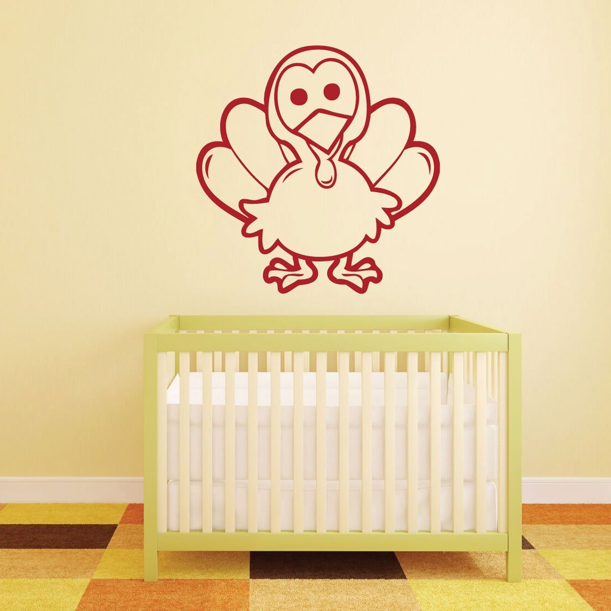 Thanksgiving Decor - Little Cute Turkey - Turkey Wall Decals for ...
