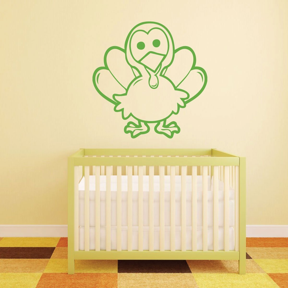 Thanksgiving Decor - Little Cute Turkey - Turkey Wall Decals for Thanksgiving Decorations