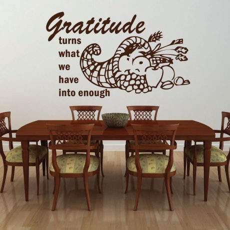 Gratitude - Gratitude Turns What We Have Into Enough - Thanksgiving Decor