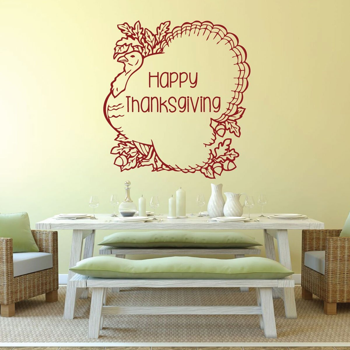Thanksgiving Turkey - Happy Thanksgiving Vinyl Wall Art Decal ...