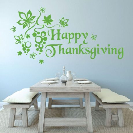 Happy Thanksgiving - Thanksgiving Decoration Vinyl Wall Decal