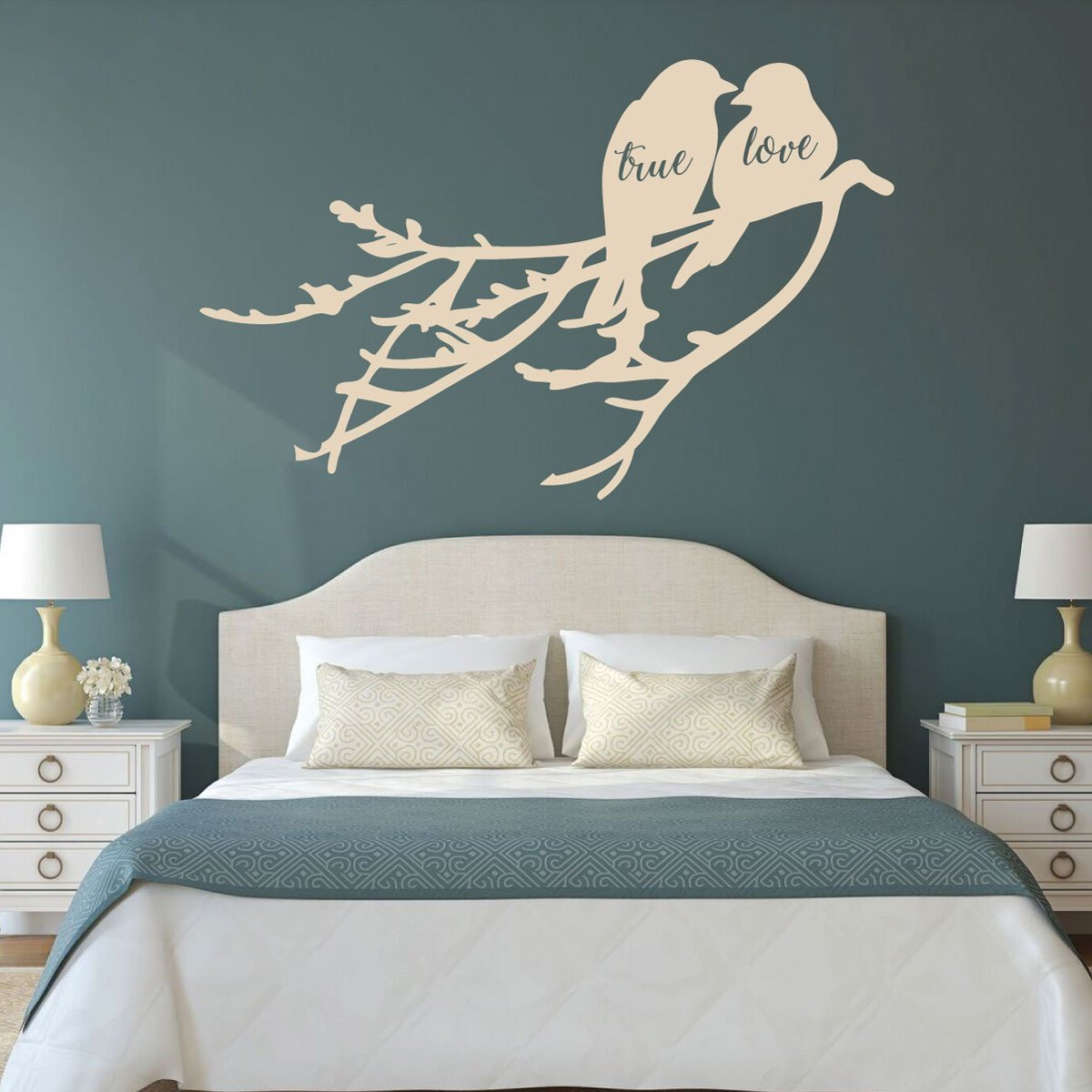 Love Birds - True Love Birds on a Branch - Love Wall Art