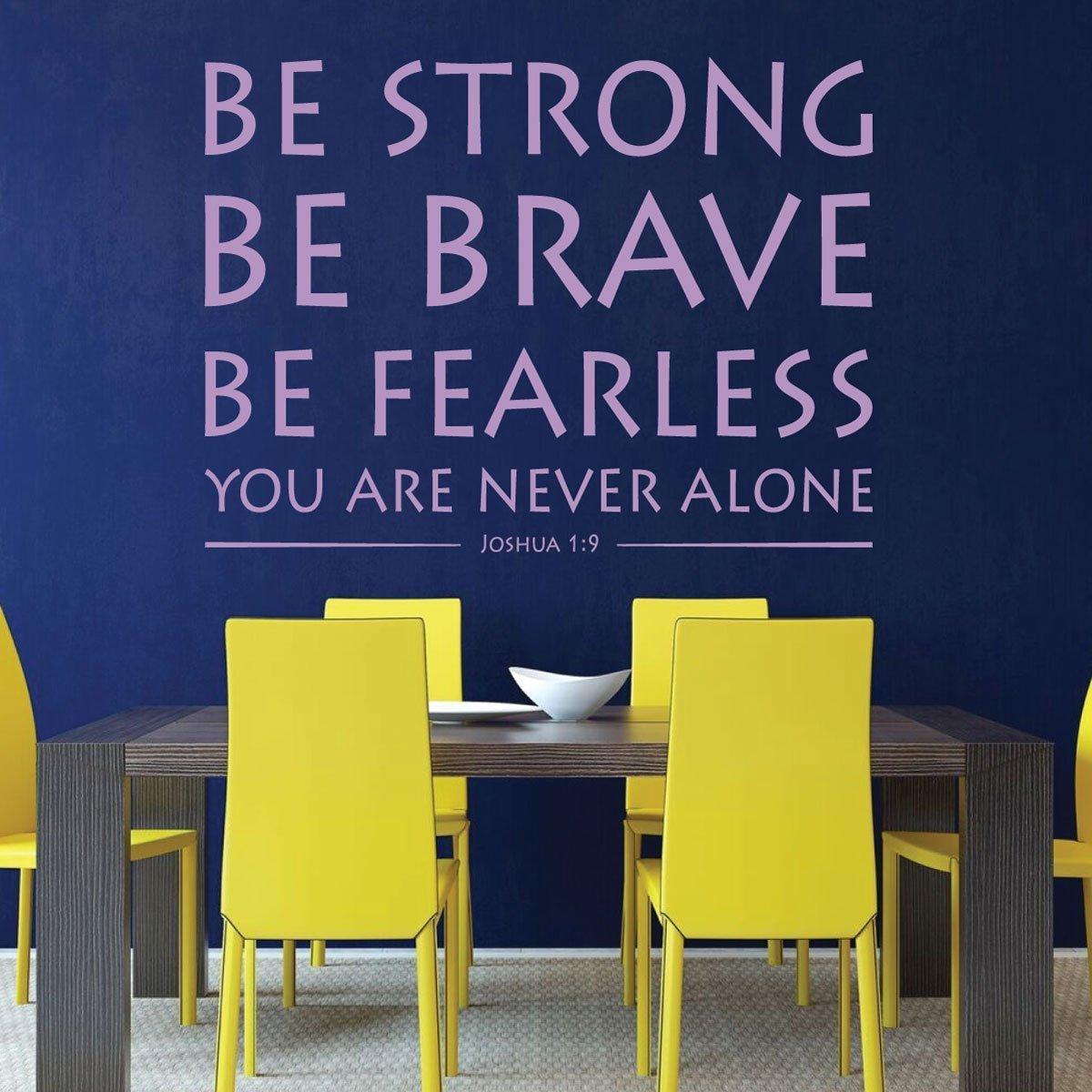 Bible Verse Wall Art Joshua 1 9 Be Strong Be Brave Be