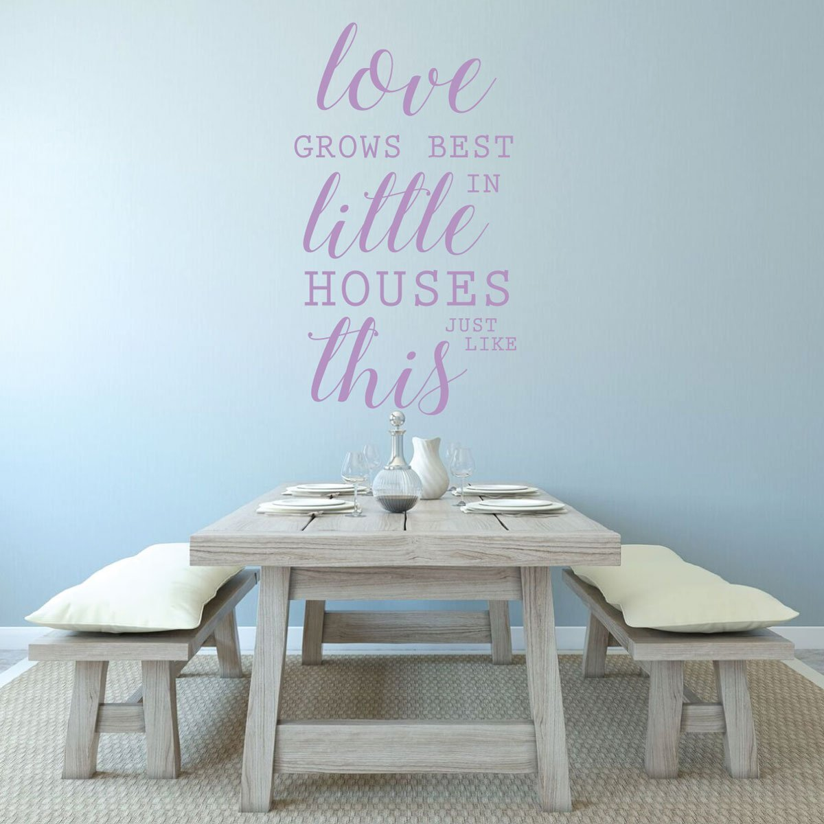 Family Love - Love Grows Best in Little Houses Just Like This - Love Wall Art