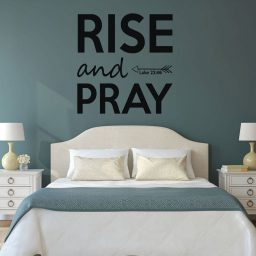 Bible Scripture Wall Decal - Luke 22:46 - Rise and Pray - Vinyl Scripture Wall Art