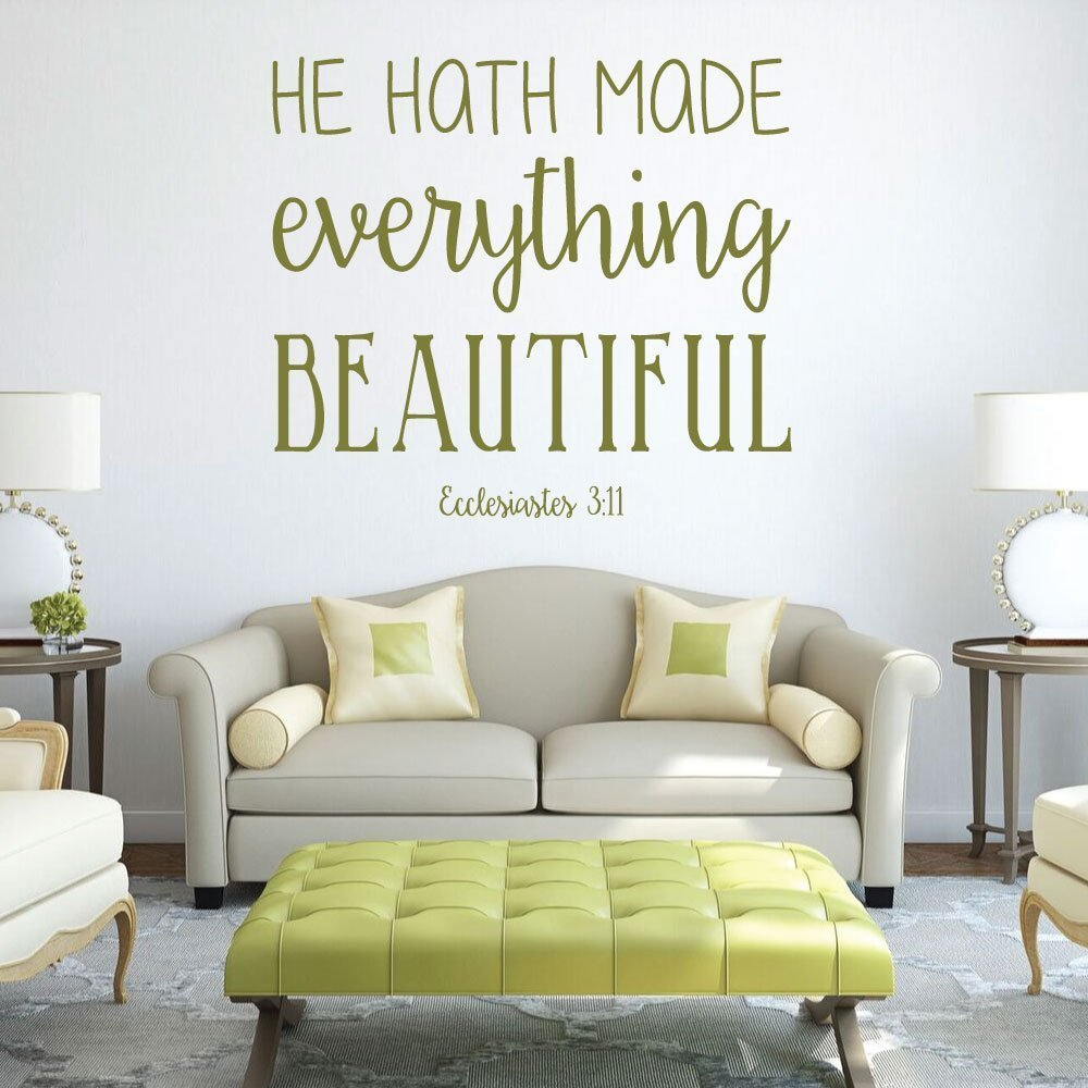 Bible Verse Wall Art   Ecclesiastes 3:11 Wall Decal   He Hath Made  Everything ...