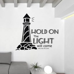 Song Lyrics Wall Decals - Michael McLean - Hold On the Light Will Come