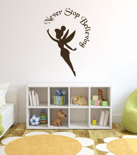 Disney Tinkerbell Wall Decals - Never Stop Believing