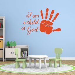 Religious Wall Decals - I Am a Child of God - Handprint