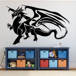 Dragon Wall Decals - Fantasy Wall Decor, Medieval Dragon