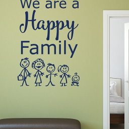 Family Wall Decals - We Are a Happy Family
