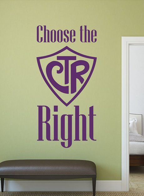 Christian Wall Decals - CTR - Choose the Right