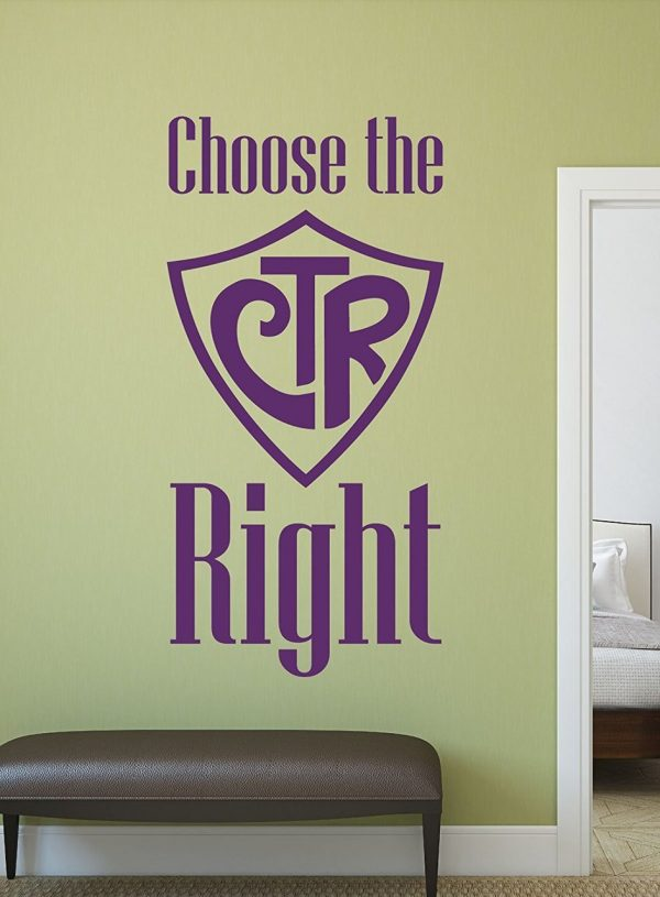Christian Wall Decals - CTR - Choose the Right - CustomVinylDecor.com