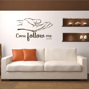 Bible Verse Decal - Luke 18:22 - Come Follow Me
