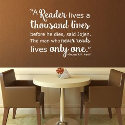 Book Quotes Wall Decals - A Reader Lives a Thousand Lives - George R.R. Martin