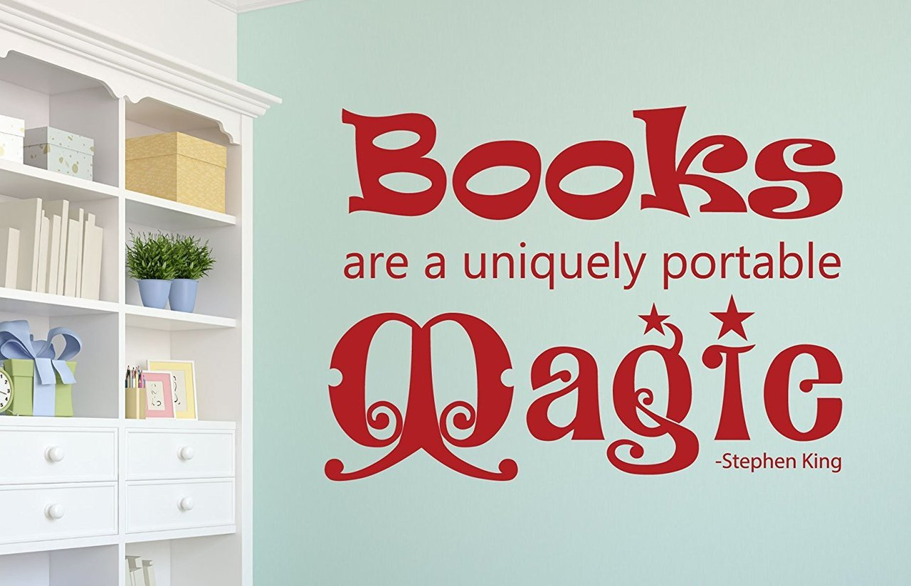 Book Quotes Wall Decals - Books Are a Uniquely Portable Magic - Stephen King