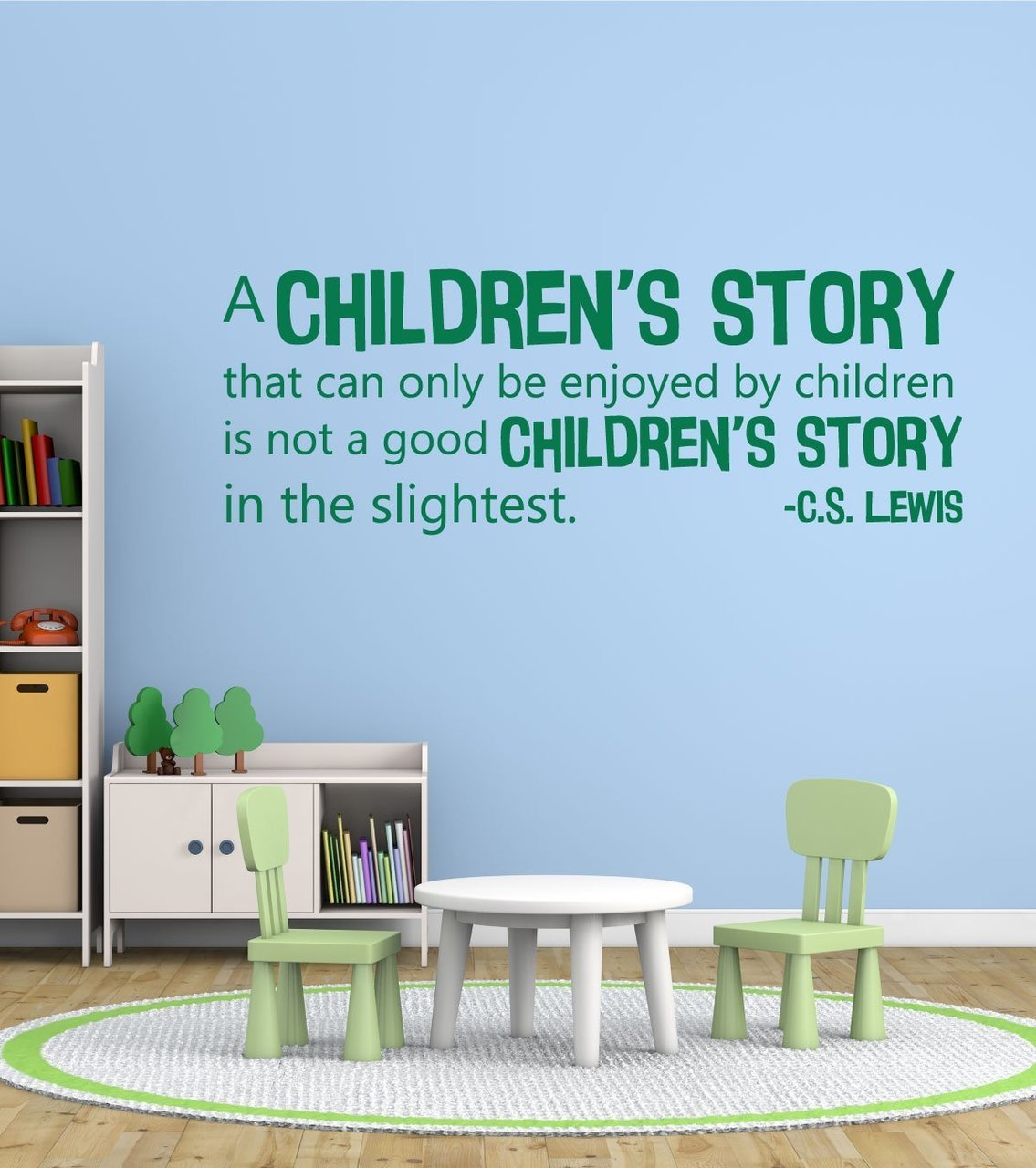 Book Quotes Wall Decals - Story in the Slightest- C.S. Lewis