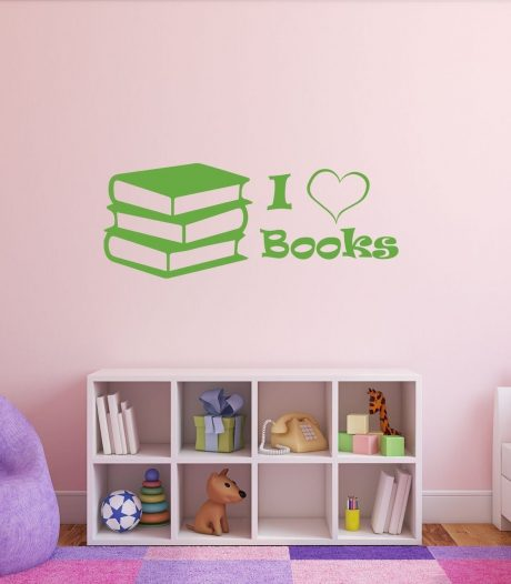 Book Decor - I Love Books, Book Art, Book Love