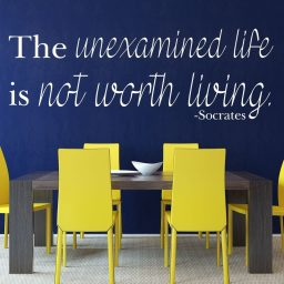 Quote Wall Decals - The Unexamined Life Is Not Worth Living - Socrates