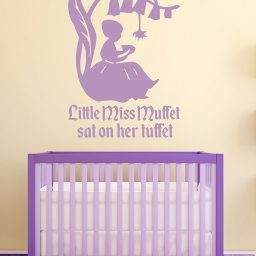 Nursery Rhyme Wall Decals - Little Miss Muffett - Nursery Wall Decor