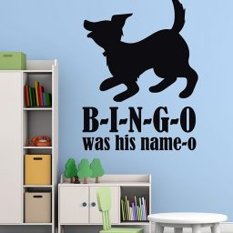 Nursery Rhyme Wall Decals - B-I-N-G-O - Bingo Song