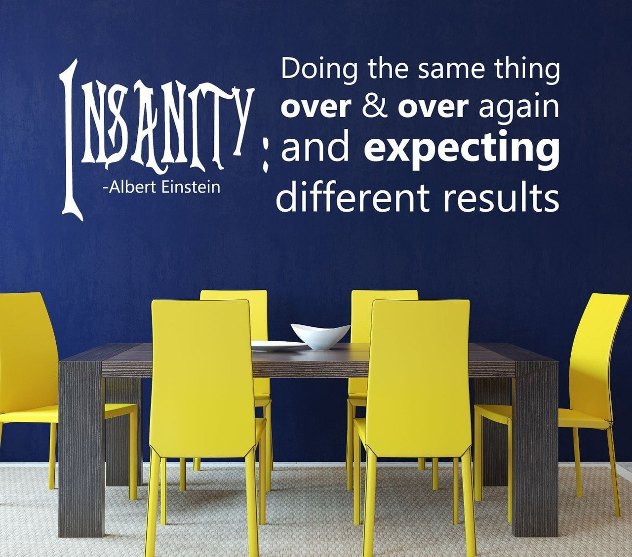 Insanity: Doing the Same Thing Over & Over Again and Expecting Different Results - Albert Einstein