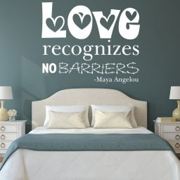 Quote Wall Decals - Love Recognizes No Barriers - Maya Angelou