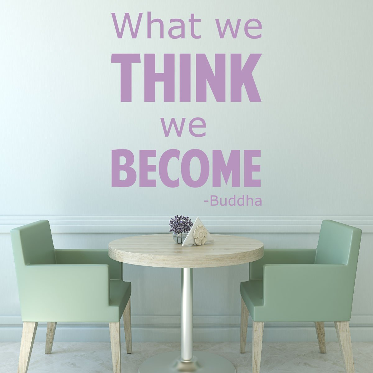 Quote Wall Decals - What We Think We Become - Buddha