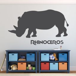 Zoo Animal Wall Decals - Rhinoceros