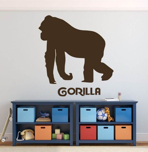 Zoo Animal Wall Decals - Gorilla