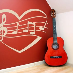 Music Decals - Musical Notes Within a Heart
