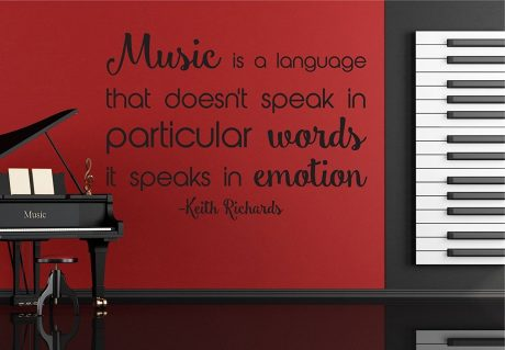 Music Quote Decals - Music Is a Language that Doesn't Speak in Particular Words It Speaks In Emotion