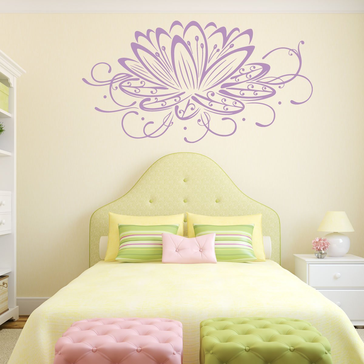 Lotus Flower Wall Decal - Flower Decals