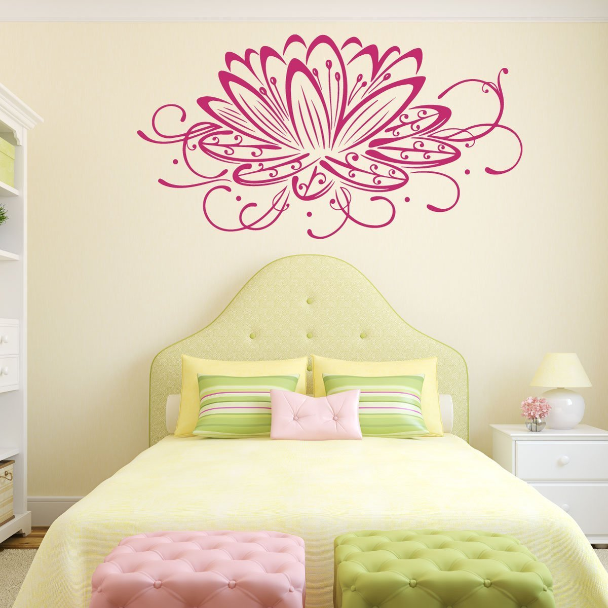 Lotus Flower Wall Decal - Flower Decals - CustomVinylDecor.com