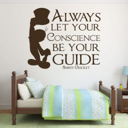 Disney Wall Decals - Jiminy Cricket Decal - Always Let Your Conscience Be Your Guide