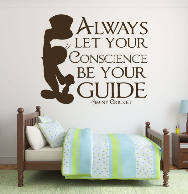 disney wall decals - jiminy cricket decal - always let your