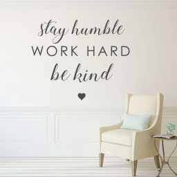 Inspirational Saying Stay Humble Work Hard Be Kind