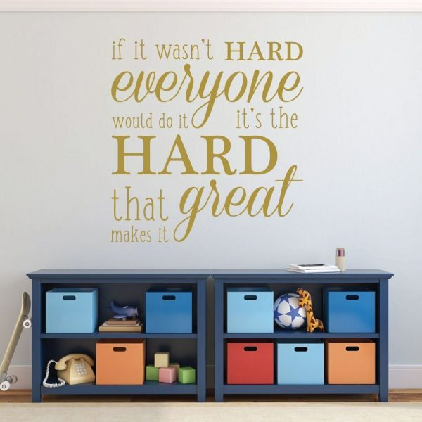 Inspirational If It Wasn't Hard Everyone Would Do It, It's the Hard That Makes It