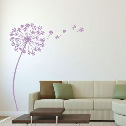 Dandelion Seeds Flower Mural Home Decor