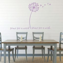 Dandelion Seeds Flower Mural Some See a Weed Some See a Wish