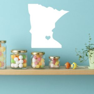 Minnesota State Vinyl Wall Decal - Map Silhouette Decoration