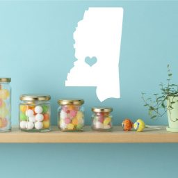 Mississippi State Vinyl Wall Decal - Map Silhouette Decoration